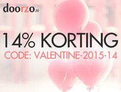 #Valentijn 14% #KORTING bij Doorzo.nl Gebruik code: VALENTINE-2015-14