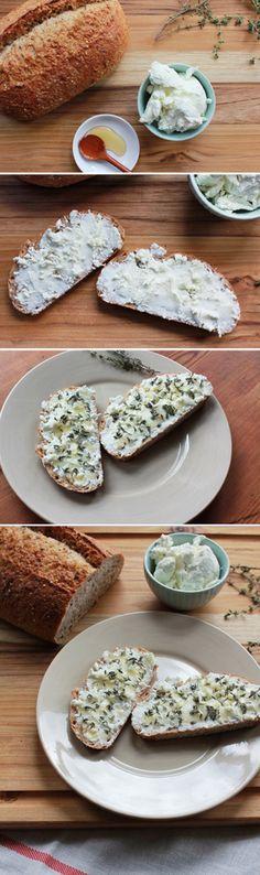 Goat Cheese Tartine with Honey & Thyme www.biggirlssmallkitchen.com #toast #sandwich