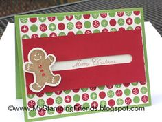 My Stamping Friends: Gingerbread Man Spinner card using Scentsational Seasons from Stampin' Up!