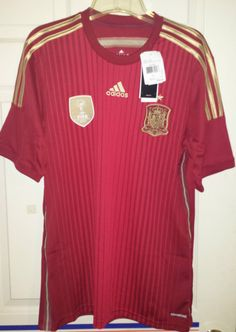 NEW Adidas Spain National Team Soccer Jersey FIFA World Cup 2010 Champions MENS #adidas #Spain