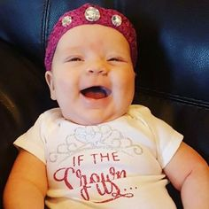 Crocheted crown and Silhouette onesie I made for my sweet niece.