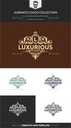 Luxurious — Vector EPS #elegant swirl #heraldic • Available here → https://graphicriver.net/item/luxurious/13744987?ref=pxcr