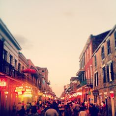 Bourbon Street, New Orleans. Via @I am Marie. Instagram