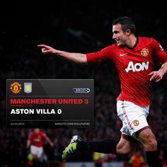 f88d4792e64 RvP hat trick over Aston Villa seals title Manchester United Soccer