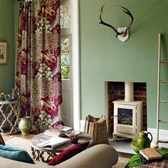 William Morris Forest Charcoal Velvet Portiere by TheMorrisRoom Decor, Interior, Single Doors, William Morris, Craftsman Fabric, Home Decor, Curtains, British Design, Digital Print Fabric