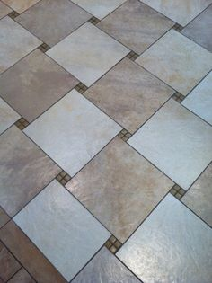 Floor tile pattern makes a change from the norm. #floortiles