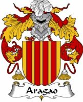 Aragao family crest Coat of Arms #apparel #gifts #glassware #embroideries #prints #history #gift #scrolls #mugs #steins #flags #family #reunion #wine #glasses #genealogy #code of arms #shield #mousepads #shirts #t-shirts #jpeg