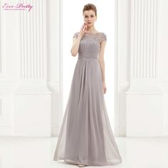 Evening Dresses Ever Pretty HE09993 Long Lacey Neckline Open Back Elegant Summer Dresses 2015 New Arrival Evening Dresses