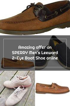 Chic SPERRY Men's Leeward 2-Eye Boat Shoe Mens Winter clothing. [$84.95] top10ideas from top store Sperrys Men, Winter Outfits Men, Mens Winter, Shoes Online, Boat Shoes, Eye, Chic, Store, Clothing