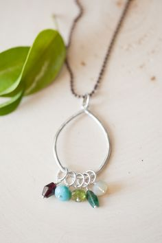 Bauble birthstone necklace {mixed metal} | Lisa Leonard Designs . . . would be nice with stones for my 5 grandkids . . .