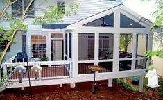 02 Best Farmhouse Screened In Porch Design Ideas Screened In Porch Diy, Screened Porch Decorating, Screened Porch Designs, Deck Decorating, Small Porches, Decks And Porches, Enclosed Porches, Front Porches, Porch Kits