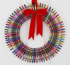 Crayons | 50 Unexpected Wreaths You Can Make Out Of Anything