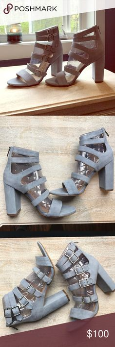 Gladiator Sandals Dusty Blue and so gorgeous but for me looking this hot sadly would include a trip to the ER.  The color is so soft and pretty with the right amount of edge, and goes with pretty much everything this season. Sam Edelman Shoes Sandals