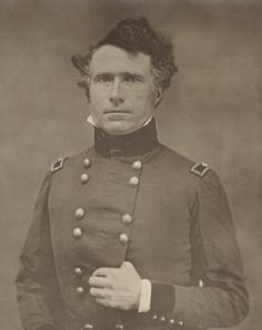 This is a daguerreotype of Franklin Pierce, seated in his Mexican War uniform.