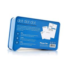 Dot Dot Dot Dating Edition Card Game - The Dot Dot Dot Dating Edition Card Game is the adult party game of terrible texts, where 1 word can change everything. Designed for hours of fun and laughs with friends, this hysterical game features relatable content with Fill in the Blank cards.