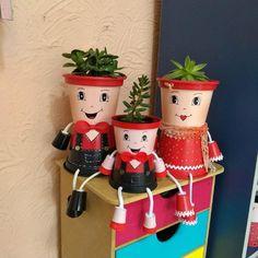 Flower Pot People, Clay Pot People, Cabbage Roses, Flower Pots, Flowers, Clay Pots, Holiday Decor, Terracotta, Advent Calendar
