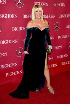 Palm Springs International Film Festival Awards: Suzanne Somers in silver pumps.