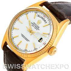Rolex President Vintage 18k Yellow Gold Watch 1803