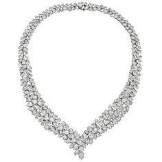 Cartier Pear-Shaped Diamond Necklace