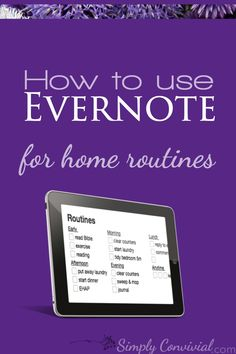 Evernote for home routines works so well and is a great paperless, clutter-free option - here are 3 ways to use Evernote for home routines! Find out the ways our team will assit you in finding the best solution to begin a lifestyle. Home Management Binder, Time Management, Evernote Template, To Do App, Software, Computer Programming, Computer Tips, Computer Projects, Classical Education