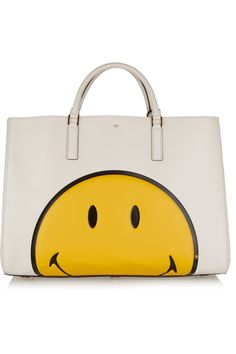 275a25ff6fa9f ANYA HINDMARCH Smiley Ebury Maxi Featherweight textured-leather tote €1