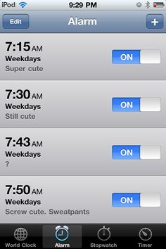 This is now my alarm in the morning....sad but true