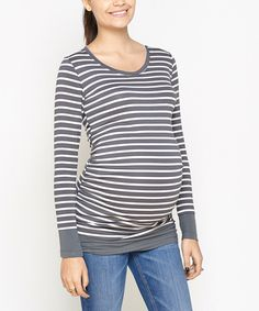 Look at this Gray Cherie Maternity Top on #zulily today!