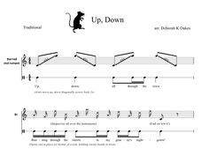 """A Little Mice Scarin'--Orff arrangement for """"Up down, all through the town"""""""