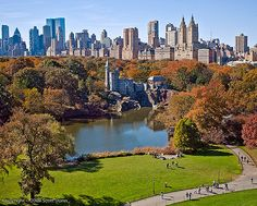 Autumn in Central Park with a view of Belvedere Castle - NYC