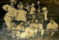 Clown Group, 1910  http://www3.familyoldphotos.com/photo/pennsylvania/1548/group-clowns-1910