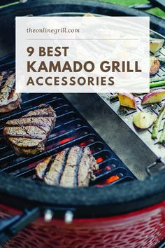 One of the things that keeps the popularity of kamado grills on the rise is their flexibility, and this is largely down to the amount of add-ons and accessories you can get for your grill.In this post we take a look at the 9 best accessories for your kamado grill, and recommend our favorites. Best Kamado Grill, Bbq Grill, Flat Top Grill, Ceramic Grill, Kamado Joe, Grill Accessories, Wood Fired Oven, Best Bbq, Bbq Tools