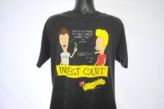 3368aa2fd 1993 Beavis and Butt-Head Insect Court Vintage 90's Mike Judge MTV Liquid  Animation Grunge Slacker Comedy Cartoon TV Show Promo T-Shirt
