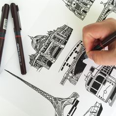 hand drawing Melbourne Icons