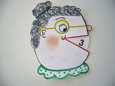 """Old Lady for Dr. Jean's """"I Know an Old Lady Who Swallowed a One""""- turn the dial in her mouth to show each number she eats! Printable located on Dr. Jean's site"""