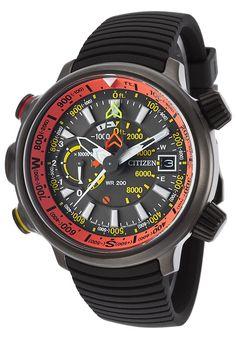 Citizen Men's Promaster Altichron Multi-Fun. Blk Rubber and Dial Blk Titanium - Luxury Watch BN5035-02F,    #Citizen,    #BN503502F,    #Aviation