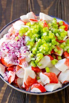 Crab Salad Recipe | Seafood Salad | Deli Salad #crab #salad #seafood #lowcarb #keto #lunch #dinner #dinneratthezoo Sea Food Salad Recipes, Salad Recipes Video, Healthy Recipes, Fish Recipes, Seafood Recipes, Dinner Recipes, Cooking Recipes, Crab Salad Recipe Healthy, Keto Recipes
