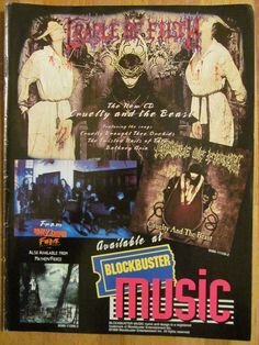 Cradle of Filth, Cruelty and the Beast, Full Page Promotional Ad Promotion Display, Cradle Of Filth, Facebook Sign Up, Beast, Ads, Music, Musica, Musik, Muziek