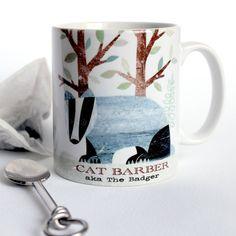 personalised badger mug by lovehart | notonthehighstreet.com