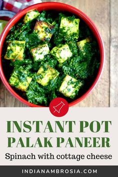 A tried and tested palak paneer recipe! Scoop up palak paneer with piping hot homemade rotis to get a taste of a much-loved North Indian dish. Spinach Indian Recipes, Indian Paneer Recipes, North Indian Recipes, Indian Food Recipes, Curry Recipes, Vegetarian Recipes, Instant Pot Curry Recipe, Paneer Dishes, Punjabi Food