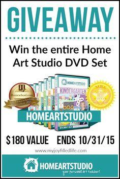 Enter to win the entire Home Art Studio DVD Set!