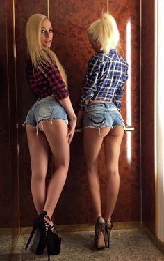 """allwomenneedfaketits: """"My slutty girls in the elevator up to the surgeon's office. """" Like mother like daughters Daisy Duke Shorts, Short Models, Sexy Hips, Daisy Dukes, Stunningly Beautiful, Cool Names, Sexy Hot Girls, Country Girls, Clothes"""