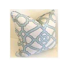 BRX Accent Pillow Blue Trellis