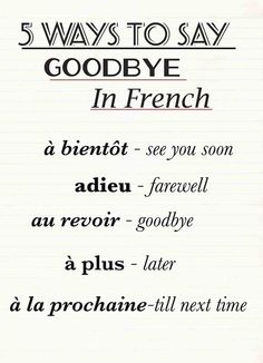 Do you know other ways to say hello in French or English?