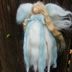 JULY SALE Wool Angel  Ethereal Crystal Star Winter von Nushkie, $41,40