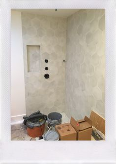 I believe this is Cle tile. Love. Great shower niche idea, close to the plumbing fixtures.