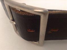 Boston Heavy Duty Black Leather Silver Tone Non Rust Buckle Gun Belt Size 36 #Boston