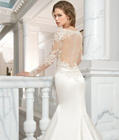 Couture 2015 Preview Style C223 by Demetrios available now at Macy's Bridal Salon in Chicago #macysbridalsalon #chicago #demetrios