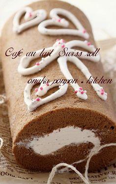 まろやかなカフェオレ♡ロールケーキ