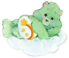All the Care Bears at the Cottage have a grand-darling to care for. The Wish Bear is very popular! Cute Characters, Cartoon Characters, Care Bear Tattoos, Care Bears Vintage, Care Bear Party, Rainbow Brite, Tatty Teddy, Bear Art, Clipart