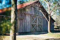 The barn at Horse Creek Farm @horsecreeknc in Eagle Springs, NC | Photo by Megan Jones @maegoni |